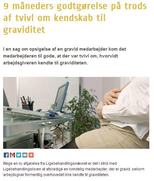 funktionærloven graviditet